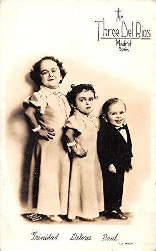 Madrid Spain Three Del Rios Little People Midget Real Photo Postcard JA4741926