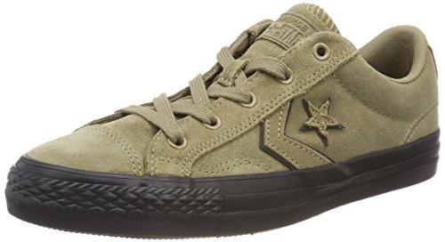 – Player Star Black Black Unisex Converse Ox Sneaker 253 Khaki Adulto Khaki Marrone Khaki x0wnA5S