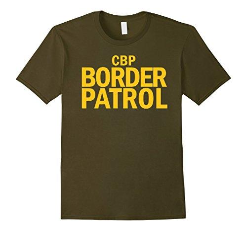 Border Patrol Halloween Costumes (Mens U.S. Border Patrol Shirt Customs CBP Tee 3XL Olive)