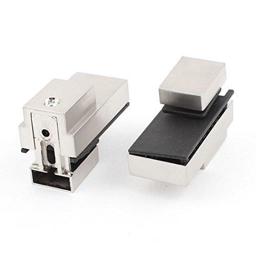 5mm-20 milímetros de espessura de vidro Janela Prateleira clipe braçadeira de prata 2pcs tom