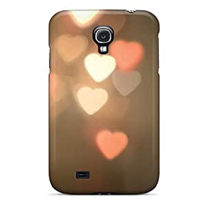 Jesussmars KfNSsYK7643CePLy Case Cover Galaxy S4 Protective Case Heart Shaped Lights