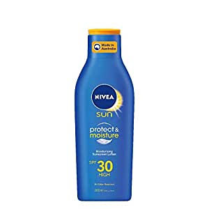 NIVEA SUN Protect & Moisture Caring & Moisturising Sunscreen Lotion SPF30, 200ml