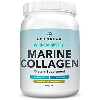 Premium Anti-Aging Marine Collagen Powder 17.6 Oz | Wild-Caught Hydrolyzed Fish Collagen Peptides | Type 1 & 3 Collagen Protein Supplement | Amino Acids for Skin, Hair, Nails | Paleo Friendly, Non-GMO