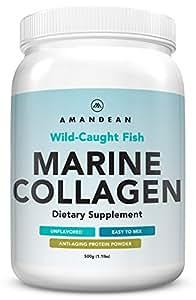 Premium Anti-Aging Marine Collagen Powder 17.6 Oz   Wild-Caught Hydrolyzed Fish Collagen Peptides   Type 1 & 3 Collagen Protein Supplement   Amino Acids for Skin, Hair, Nails   Paleo Friendly, Non-GMO