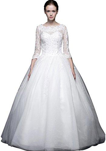 A Emily Quarter Weiß mit Kristallen Beauty Brautkleid Brautkleid Boot Line Elegante gYPnU1