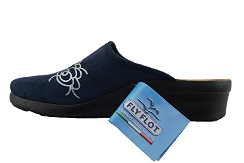 Ciabatte Fly Donna Comfort Flot L79466 Benessere Blu Pantofole We xIpvBwqI