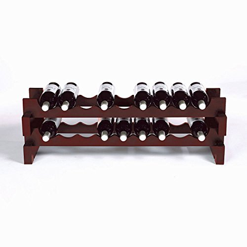 18 Bottle Stackable Wine Rack Kit -Mahogany