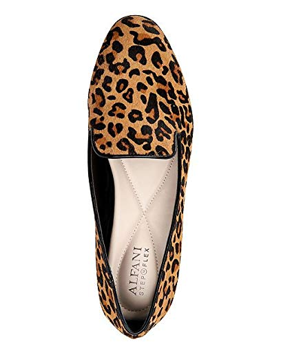 1effdc748bbb Amazon.com | Alfani Womens Oceanaa Calf Hair Almond Toe Loafers, Leopard,  Size 7.0 3U8b | Loafers & Slip-Ons