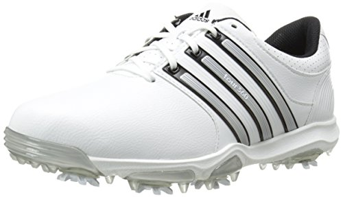 adidas Men's Tour360 X Cleated Golf Shoe,Running White/Black/Silver Metallic,9.5 W US
