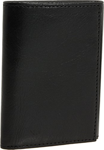 Bosca Old Leather Collection Black Double ID Trifold Wallet by Bosca