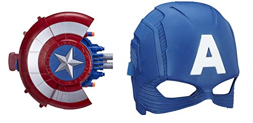 Marvel Captain America: Civil War Blaster Reveal Shield and Mask (Kids Captain America Costume With Shield)