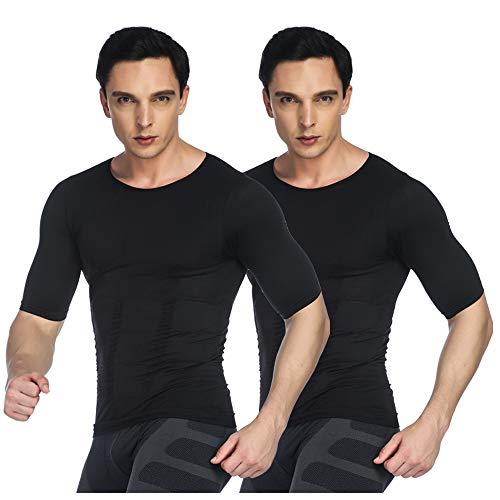 Exlura 가압 이너 맨즈[소재 혁명으로 가압력이 철저 강화]Compression 이너 맨즈 근육트레이닝 등줄기 교정 셔츠 배 긴축 보정 속옷