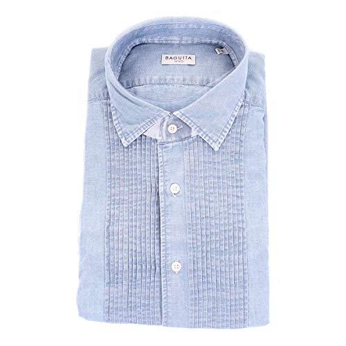 Bagutta Men's Jotello06197lightblue Blue Cotton Shirt