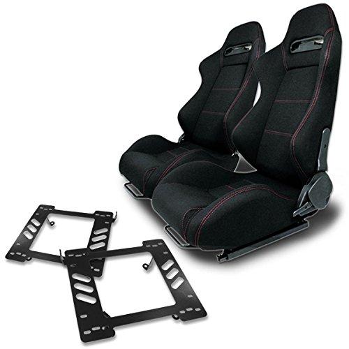 Jeep Wrangler Seat Bracket - Pair of RSTRBK Racing Seats+Mounting Bracket for Jeep Wrangler TJ