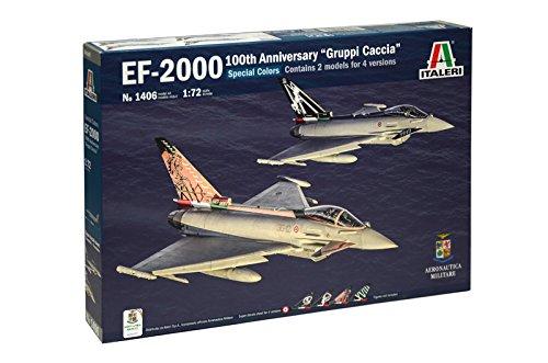 ITA1406 1:72 Italeri EF-2000 Eurofighter 100th Anniversary 'Gruppi Caccia' (2 kits) [MODEL BUILDING KIT]