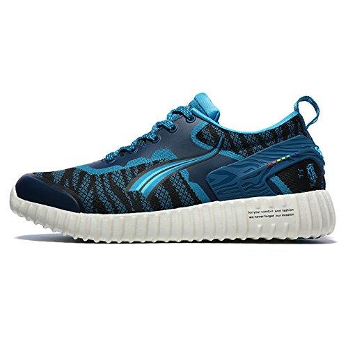Onemix Kvinna Löparskor Andas Atletisk Utbildare Sportsko Utomhus Sneakers Mörkblå / Vit
