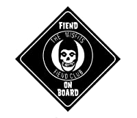 Licenses Products Misfits Fiend On Board Sticker