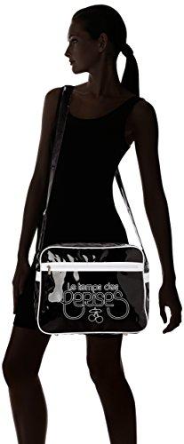 Le Temps des Cerises Rumba Bi-Color 1 - Bolso bandolera mujer multicolor (1d01 noir blanc)