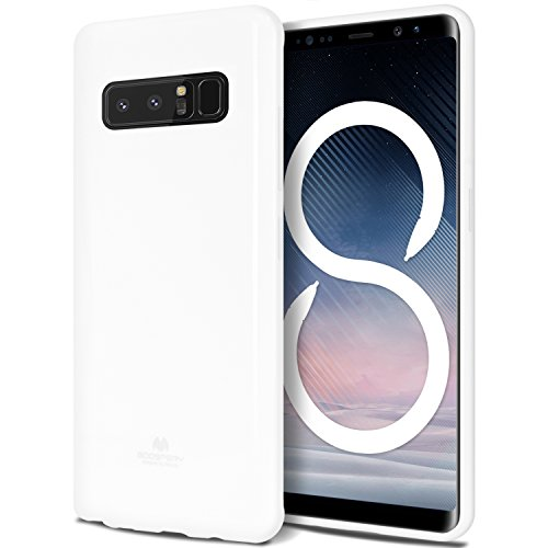Galaxy Note 8 Case, [Thin Slim] GOOSPERY [Flexible] Pearl Jelly Rubber TPU Case [Lightweight] Bumper Cover [Impact Resistant] for Samsung Galaxy Note 8 (White) NT8-JEL-WHT