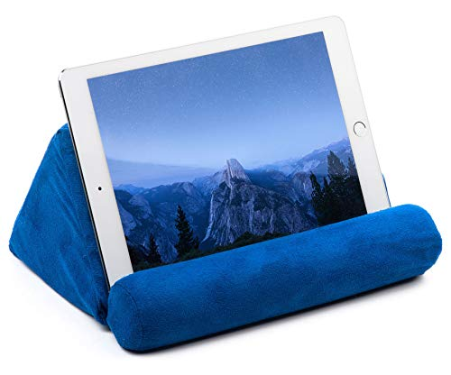 iPad Tablet Pillow Holder for Lap - Pillow for Tablet or iPad - Universal Phone and Tablet Holder for Bed Can Be Used also on Floor, Desk, Chair, Couch - Blue Color
