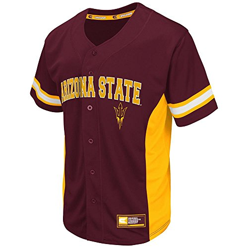 Arizona Baseball Jersey (Mens NCAA Arizona State Sun Devils Baseball Jersey (Team Color) -)