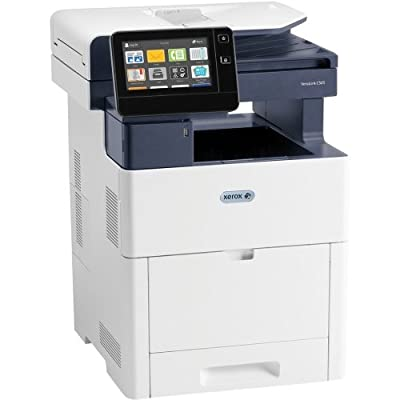 "Xerox C505/X VersaLink Color Laser MFP (print copy scan fax) letter/legal up to 45 ppm USB/Ethernet 2 sided print 550 sheet tray 150 sheet multi purpose tray 250 GB hard drive 7"" Display"