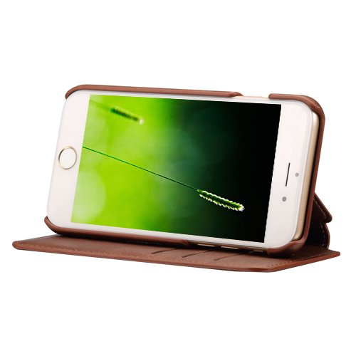E8Q superior del tirón del cuero tarjeta de bolsillo de lujo Funda cubrir para Apple iPhone 7 estilo A