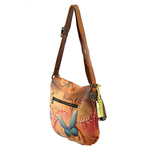 LL Flying Anuschka Jewels Over tan Large Flap Convertible Sqw1Iaw