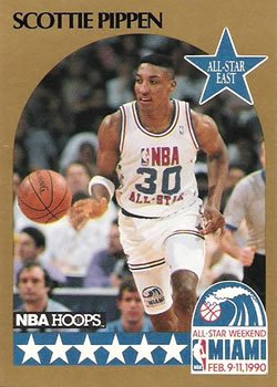 Scottie Pippen Basketball Card (Chicago Bulls) 1990 Hoops All Star #9 1990 Hoops