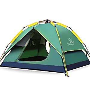 HEWOLF Automatic Camping Pop-up Tent 2-3 Person Updated Version Instant Setup Hydraulic Tents Double Layer Waterproof…