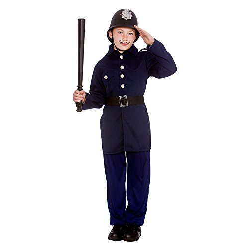 Boys Victorian Policeman Fancy Dress Up Party Costume Halloween Child Outfit New ()