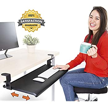 Amazon Com Clamp On Keyboard Tray Office Under Desk