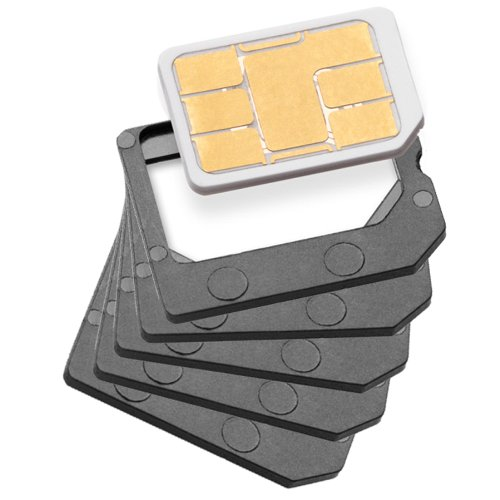 STK Nano Sim to Micro Sim Card Adaptor (Pack of 5)