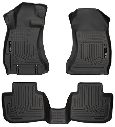 (Husky Liners 99801 Black Weatherbeater Front & 2nd Seat Floor Liners Fits 2016-2017 Subaru Crosstrek, 2012-2016 Subaru Impreza)