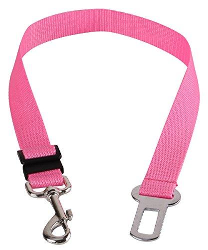 Walgap(tm) Car Vehicle Auto Safety Seat Belt for Dog Pet (7 Color) (Pink)