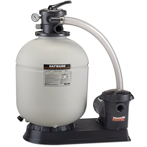 Hayward S180T92S Above Ground Pro Series 18-Inch 1-Horsepower Top-Mount Sand Filter Power Matrix Pool Pump