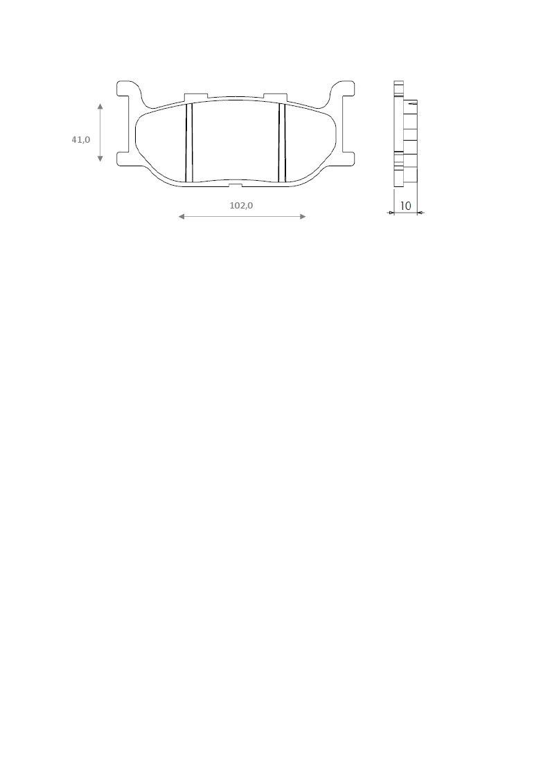 XVS 400 Brenta Plaquettes de Frein sinterizzate moto pour yamaha tDR 125/r XV 750/Virago
