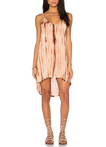 Women snake printing Backless Sleeveless Dress - 1
