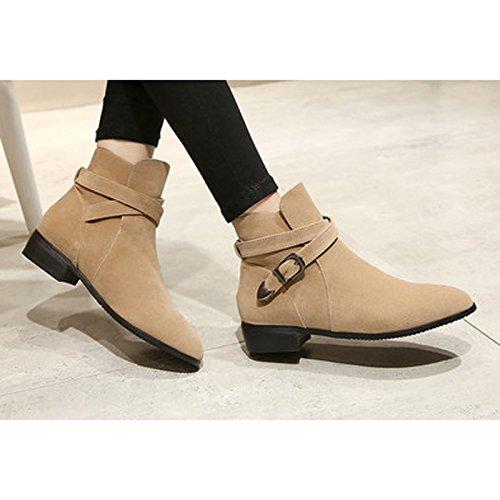 Donalworld Women Suede High Heel Martin Ankle Boot Pt3 gGwAHC7k