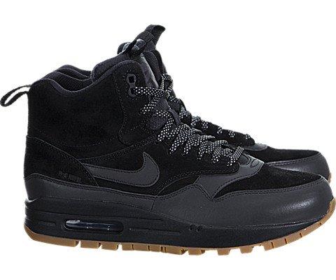 Nike Women's Wmns Air Max 1 Mid Snkrbt Sneakerboot, BLACK/BLACK-GUM MED BROWN, 8.5 US