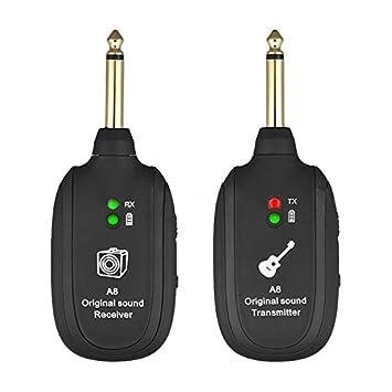 TOOGOO UHF Guitar Inalambrico Sistema Transmisor Receptor Incorporado Recargable: Amazon.es: Instrumentos musicales