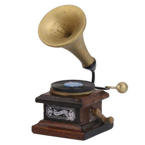 Amazon.com: TOOGOO (R) 1/12 Fonógrafo Miniatura Tocadiscos ...