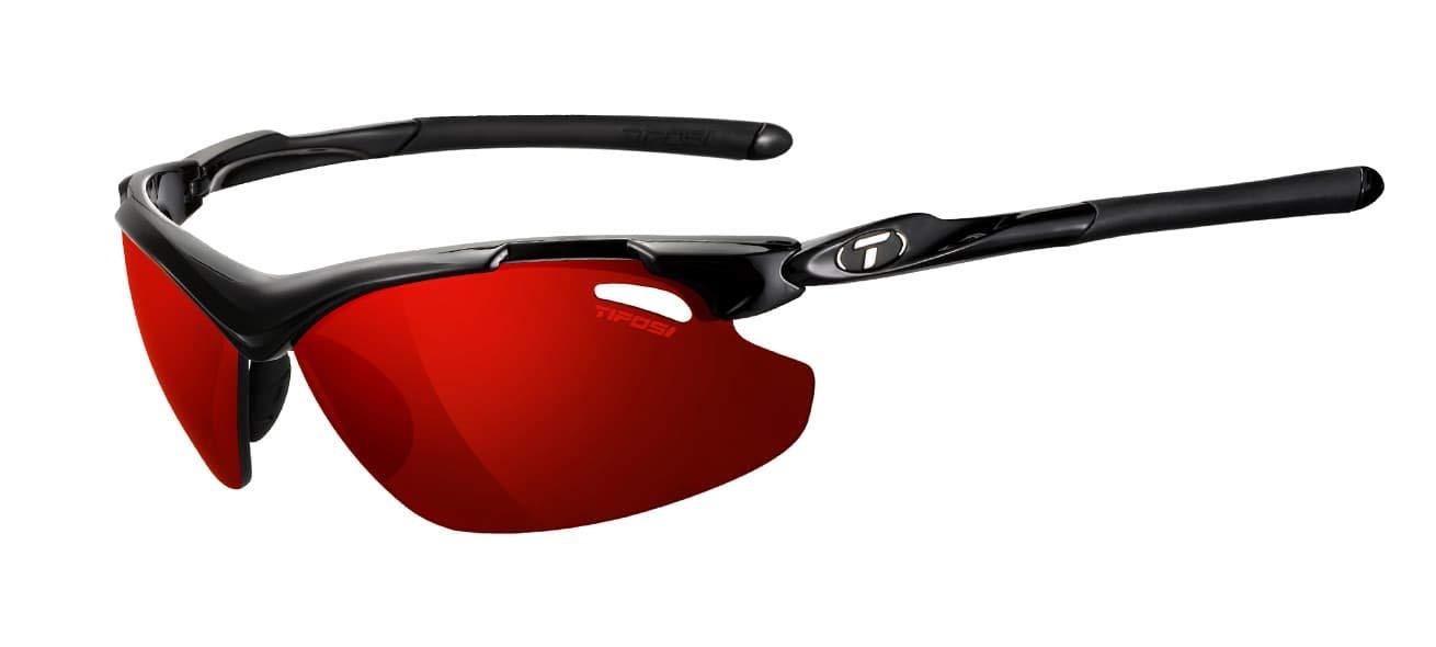 8c6e3e09f65 Tifosi Unisex Adult Tyrant 2.0 White Black Clarion Blue Lens Sunglasses - Black  Clarion Red