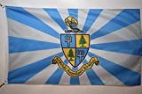 Delta Delta Delta (Tri Delta) Coat of Arms Sorority College Officially Licensed Flag 3x5