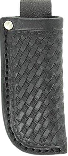 Nocona Mens Basketweave Leather Knife Sheath Black One Size