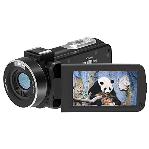 Video Camera Camcorder, FamBrow FHD 1080p 24MP 3.0 Inch TFT LCD 270 Degrees Rotatable Screen 16X Digital Zoom Handheld Camera Recorder Camcorder Vlogging Video Camera for YouTube with Battery Charger