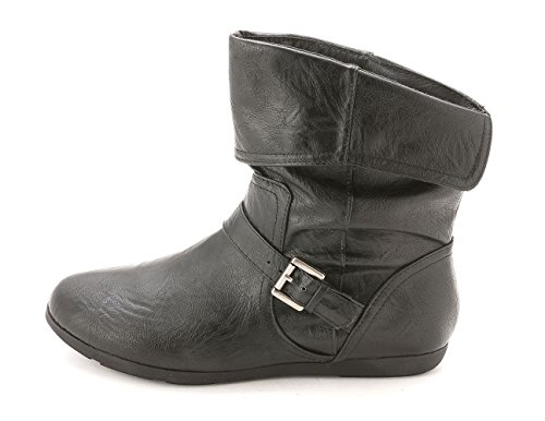 Working Toe Rampage Brunella Closed Black Womens Boots Smth Ankle PBBUwgXxq