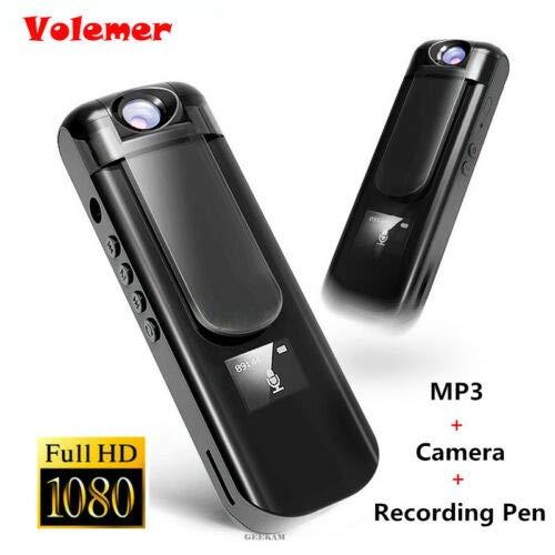 【残りわずか】 FidgetGear フルHD 1080 PミニカメラビデオレコーダーペンスパイセキュリティビデオカメラDV DVR ブラック   B07QNL16KN, タテヤママチ b61b0cd4
