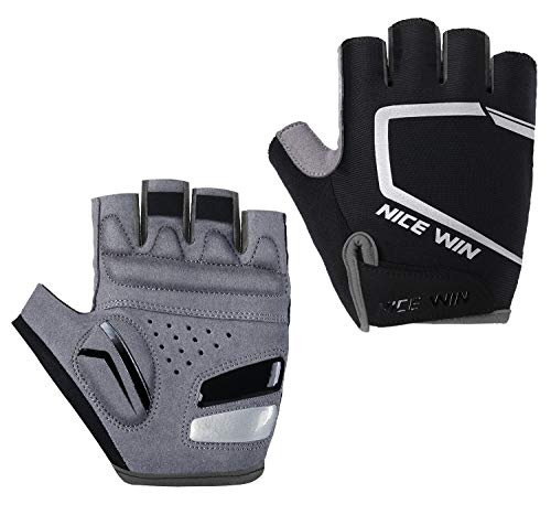 - Cycling Gloves - Motorcycle/Mountain Bike - Half-Finger Workout Gloves Road Bicycle Glove for Men or Women Black L