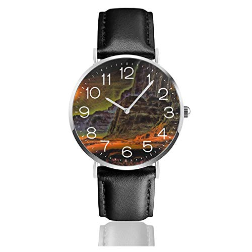 (Mens Thin Watches,Simple PU Leather Watch Men Wrist Watch Casual Watches for Men,Analog Quartz Business Watch - Outland Art)